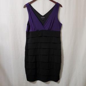 Enfocus Studio Black & Purple Plus Size Dress